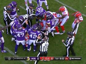 Browns muff punt, Vikings recover
