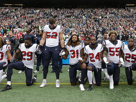 Texans players unified during national anthem