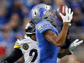Stafford drops ball perfectly into T.J. Jones' hands for 34-yard catch