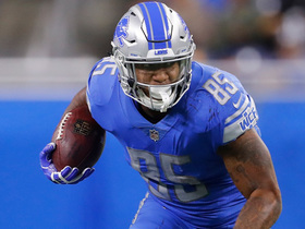 Eric Ebron muscles his way down the sideline for huge 44-yard gain