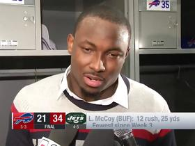 LeSean McCoy says Bills played 'lackadaisical' against Jets