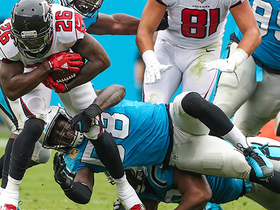 Thomas Davis stuffs Tevin Coleman on 4th down