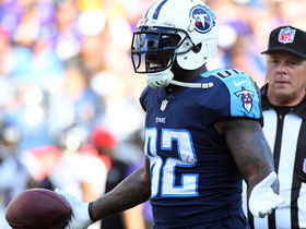 Delanie Walker charges down field for a 20-yard gain on the seam route