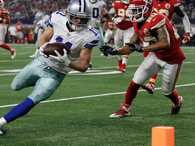 Cole Beasley drives for pylon to score second TD of the day