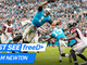 Watch: freeD: Cam Newton leaps through the air for the solo TD | Week 9