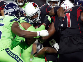 Seahawks ambush Cardinals' O-Line, pancake Peterson for safety