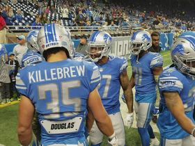 Darius Slay and Lions defense get pumped up on sidelines