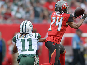 Watch: Brent Grimes picks off Josh McCown and returns 28 yards