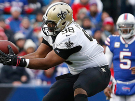 Big-man INT! DT Sheldon Rankins gets pick, nearly returns for six