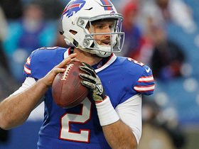 Nathan Peterman's first NFL pass is a 10-yard first down completion