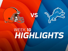 Browns vs. Lions highlights | Week 10