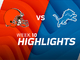 Watch: Browns vs. Lions highlights | Week 10