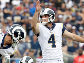 Rams drill 50-yard field goal, Jared Goff reacts on sideline