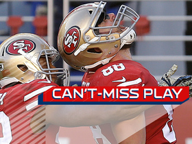 Watch: Can't-Miss Play: Garrett Celek blasts past defenders for 47-yard TD