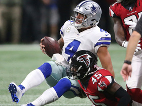 Watch: Atlanta Falcons get after Dak Prescott, recover ball after strip sack