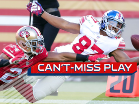 Can't-Miss Play: Sterling Shepard goes all out for one-handed catch