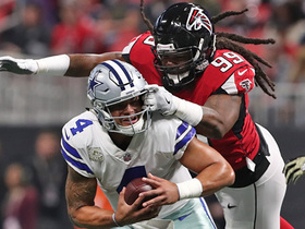 Adrian Clayborn records sixth sack, forces turnover