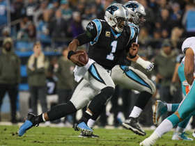 Cam escapes McDonald tackle for first down after key McCaffrey block