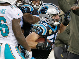 Luke Kuechly gets airborne for 15th career interception