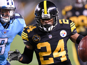 Watch: Coty Sensabaugh's first INT with Steelers nearly goes for TD