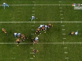 Le'Veon Bell pulls off near impossible block on Wesley Woodyard, saves Big Ben