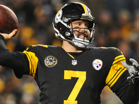 Ben Roethlisberger lobs it to a wide-open Jesse James for TD