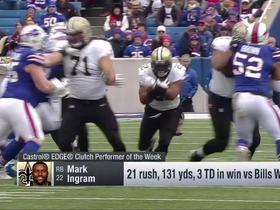 Week 10: Mark Ingram wins Castrol EDGE Clutch Performer