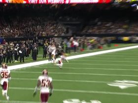 D.J. Swearinger picks off Drew Brees on first drive of game