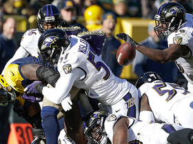 Devante Mays fumbles, the Baltimore Ravens recover