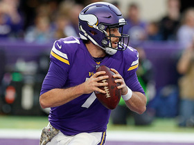 Case Keenum scrambles for 14 yards