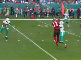 Xavien Howard swats the ball for a huge defensive stop near the end zone