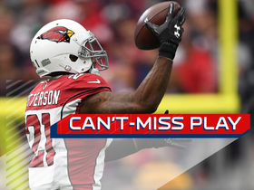 Watch: Can't-Miss Play: Patrick Peterson plucks INT out of mid-air with ONE HAND
