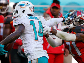 Matt Moore slings pass to Jarvis Landry, who stiff arms for 49-yard gain