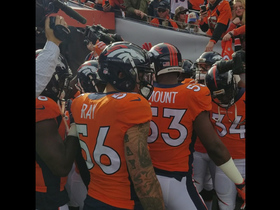 Broncos huddle up before Week 11 game vs. Bengals