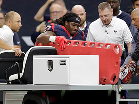 D'Onta Foreman carted off the field after scoring 34-yard touchdown