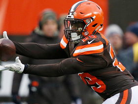 Duke Johnson shifts and jukes his way down the sideline for a 21-yard gain