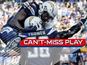 Watch: Can't-Miss Play: Korey Toomer takes tipped ball INT to the house