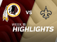 Watch: Redskins vs. Saints highlights | Week 11