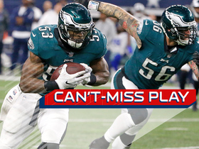 Watch: Can't-Miss Play: Barnett, Bradham combine for stellar strip-sack TD