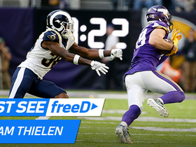 Watch: freeD: Adam Thielen beats the man coverage at the line and is gone