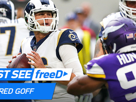 Watch: freeD: Jared Goff puts ball just out of defender's reach and hits Robert Woods for 23 yards | Week 11