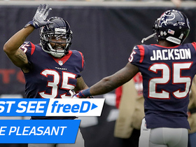 Watch: freeD: Go inside Pleasant's helmet as he jumps route for game-sealing INT | Week 11