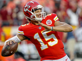 Watch: David Carr: Andy Reid should 'consider' playing Patrick Mahomes