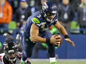 Watch: Russell Wilson escapes Falcons pass rush for pivotal first down
