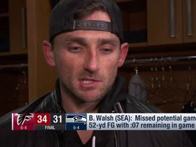Blair Walsh explains why he missed potential game-tying FG