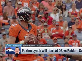 Watch: Broncos to start QB Paxton Lynch vs Raiders