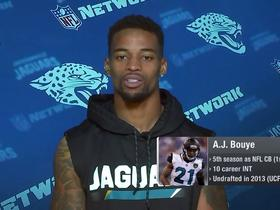 Watch: A.J. Bouye: 'They counted us out early, you see what's happening now'