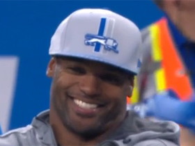 Watch: A first look at Dwight Freeney in Lions gear