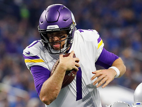 Watch: Case Keenum makes avoiding sacks look easy on this 10-yard completion
