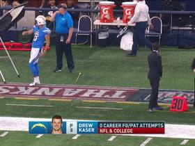 Watch: Chargers backup kicker misses field goal net during practice, Romo can't believe it